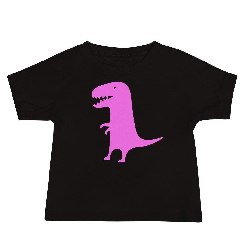 Personalized Pink Dinosaur Baby Unisex T-shirt - Add Your Baby's Name or Other Text
