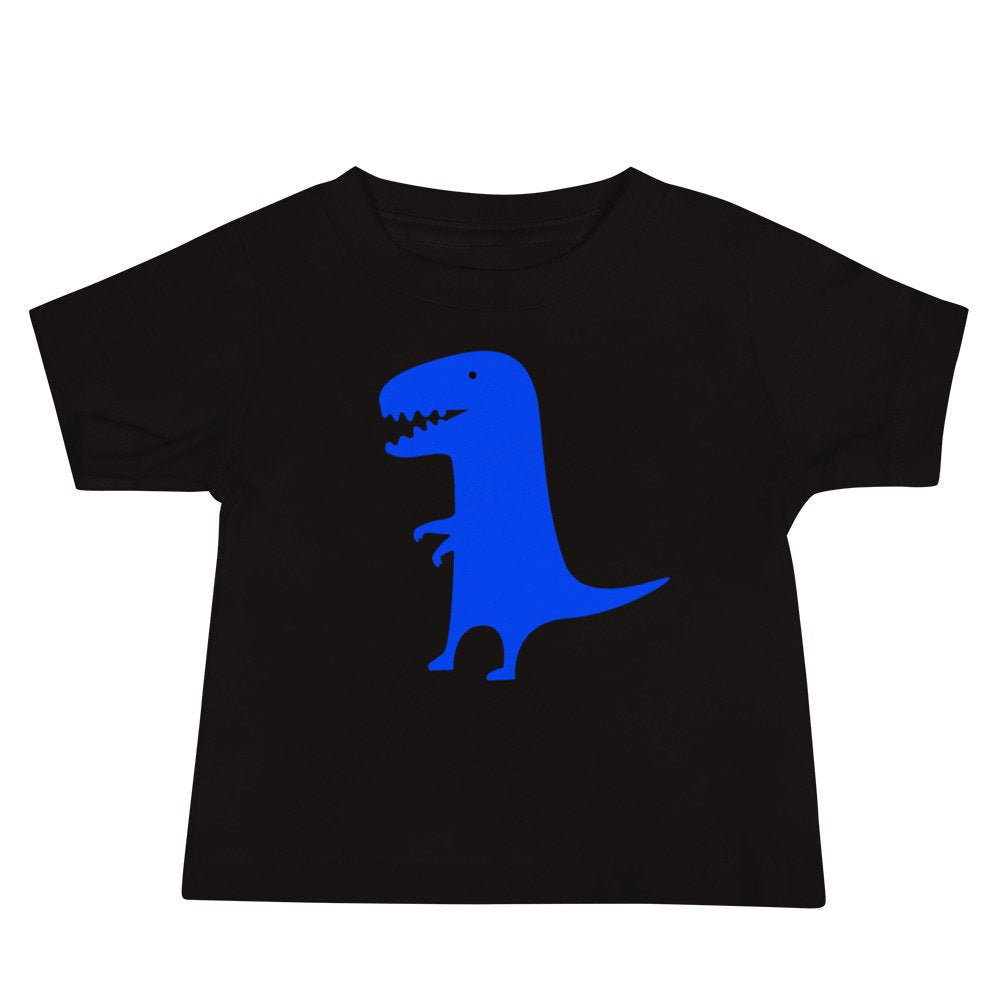Personalized Blue Dinosaur Baby Unisex T-shirt with Your Child's Name!
