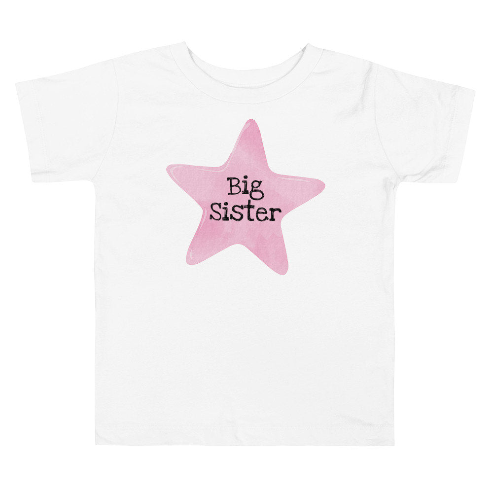 Pink Star Big Sister T-shirt - The Last Word Bish