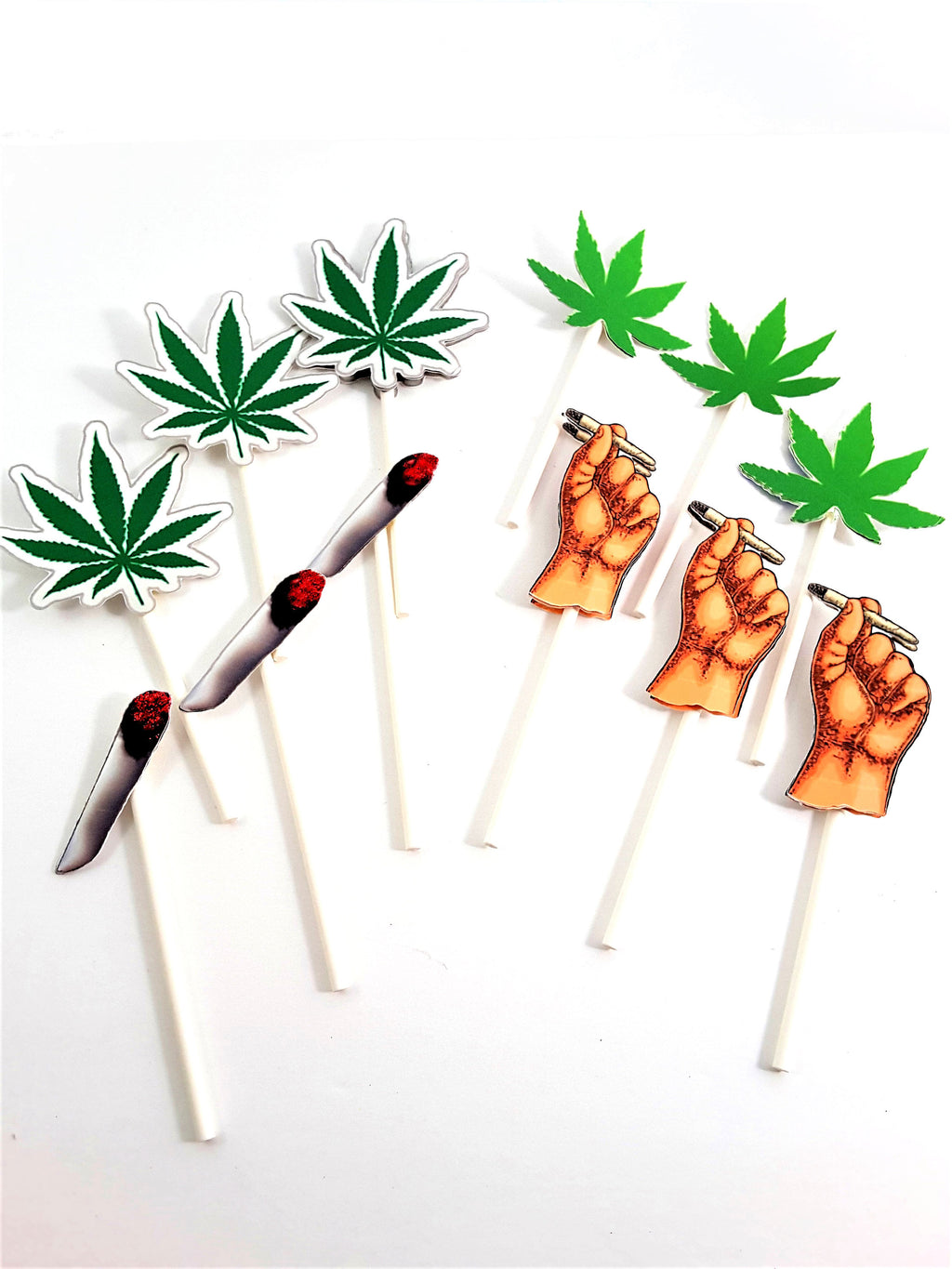 Cannabis Cupcake Toppers for all occasion parties - TheLastWordBish.com