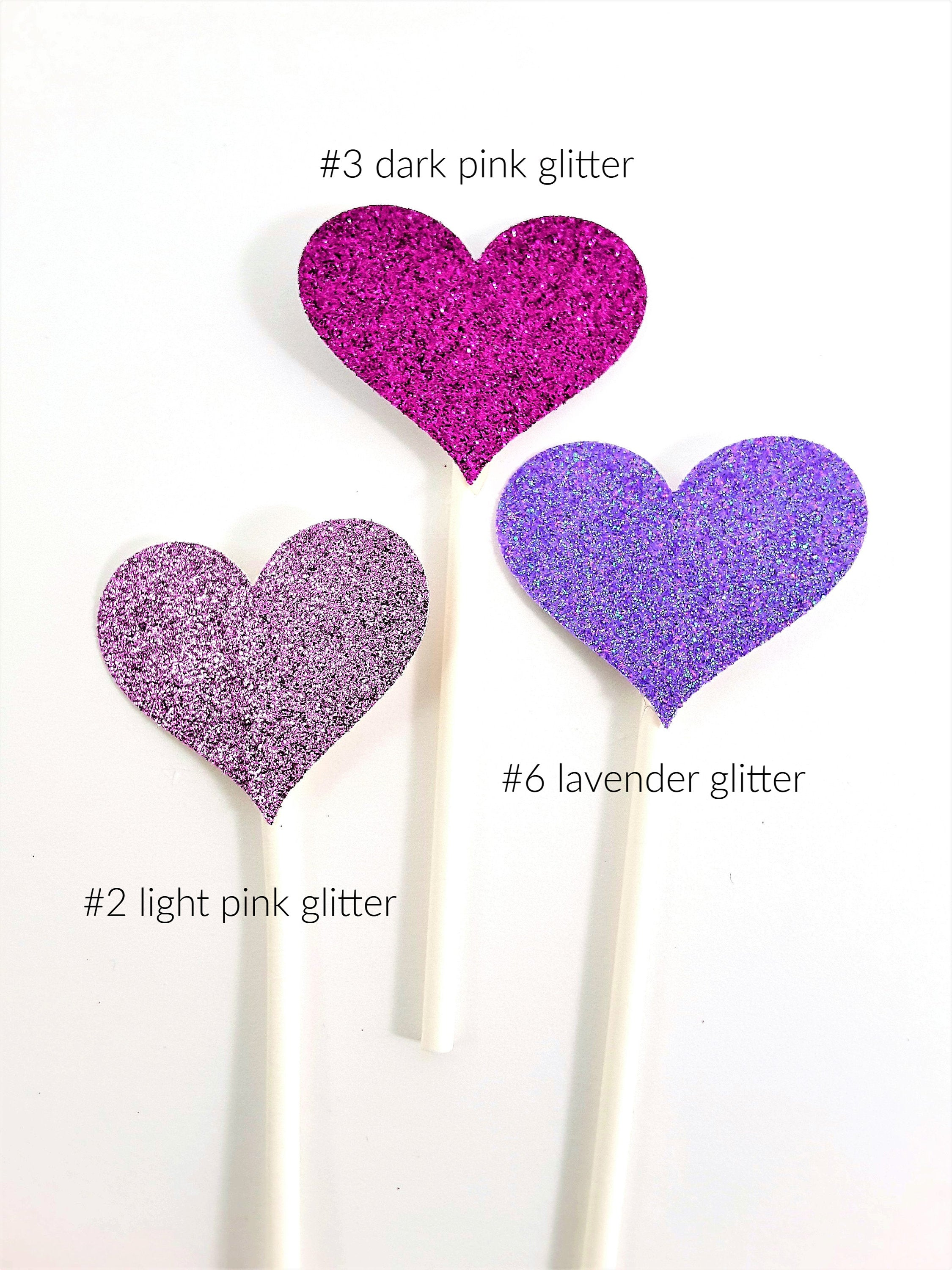 Rainbow Hand with Glittered Hearts Cupcake Topper Collection for LGTBI - all occasion party decor - TheLastWordBish.com