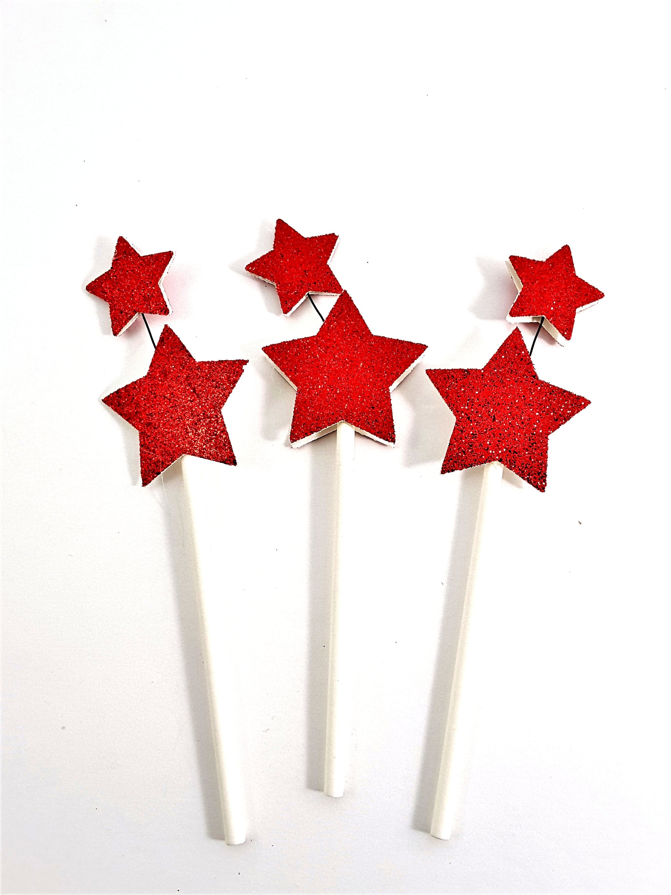 Happy Birthday Champagne and Stars Cupcake Toppers - can be customized for any occasion