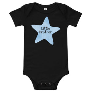 Little Brother Baby Onesie with Blue Star