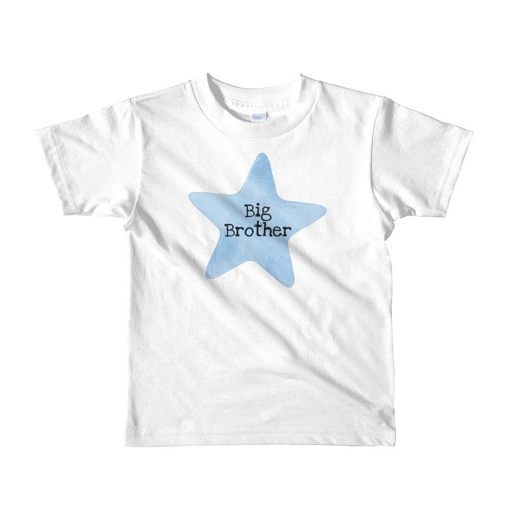Big Brother Blue Star Kids T-shirt for ages 2-6 years - TheLastWordBish.com