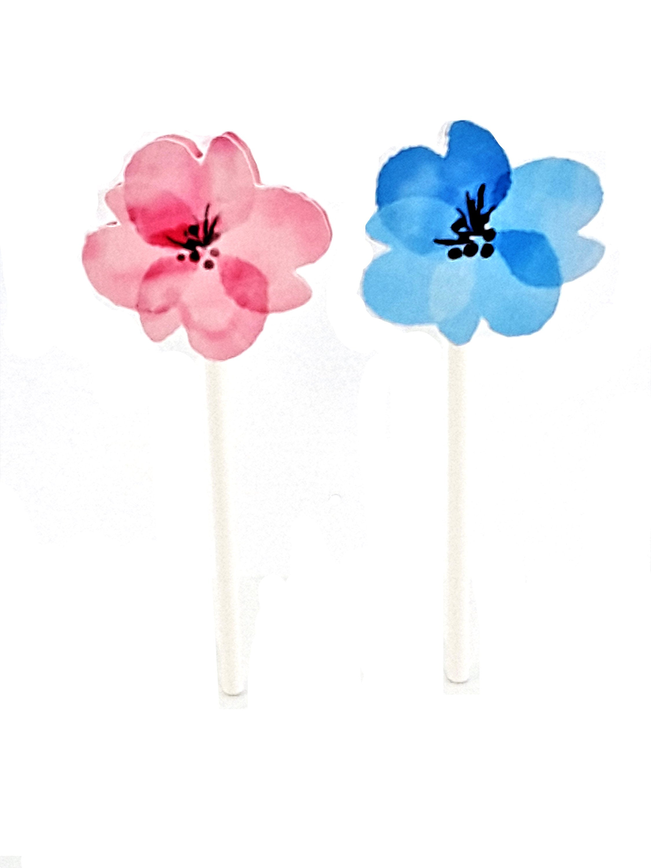 Personalized Cupcake Toppers with Pink and Blue Elephants, Bows, Stars, Flowers & Hearts - TheLastWordBish.com