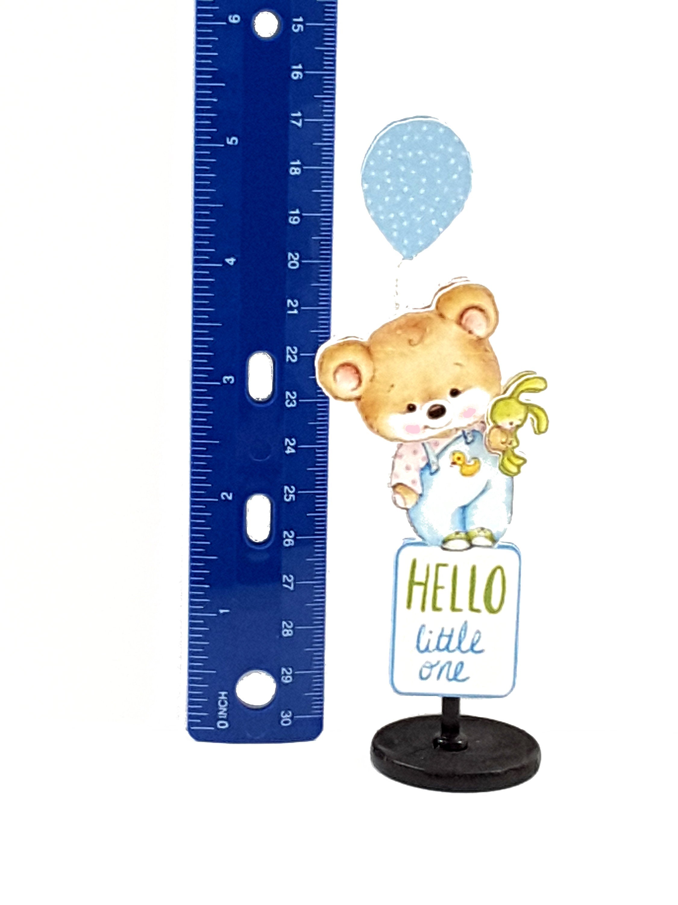 Adorable Personalized Stand-up All Occasion card with Teddy Bear Message in a Bottle - TheLastWordBish.com