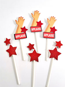 Applause and Stars Cupcake Toppers for congratulations - TheLastWordBish.com
