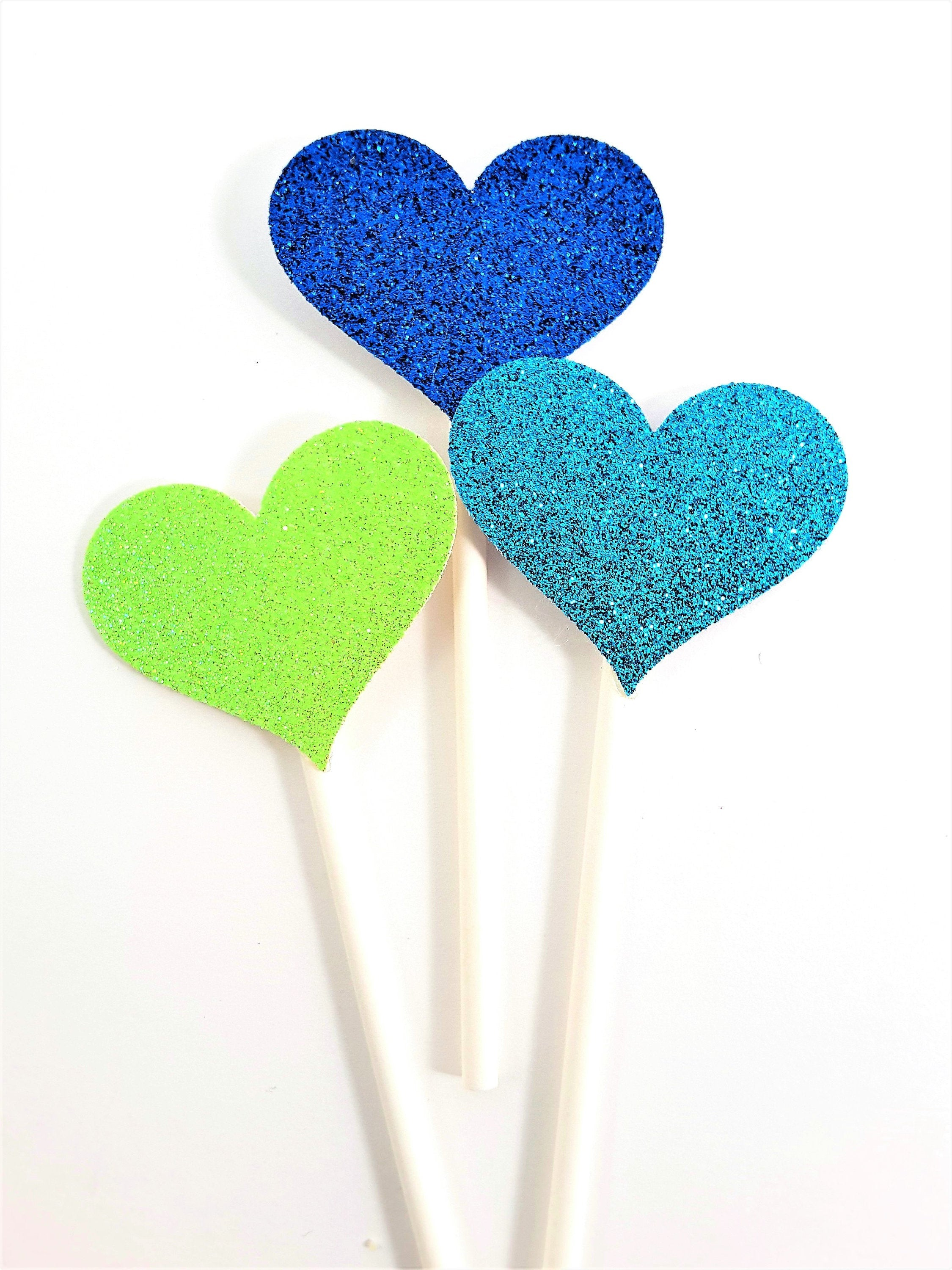Rainbow Hand with Glittered Hearts Cupcake Topper Collection for LGTBI - all occasion party decor - The Last Word Bish