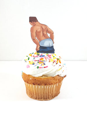 Personalized Male Stripper Cupcake Toppers - TheLastWordBish.com