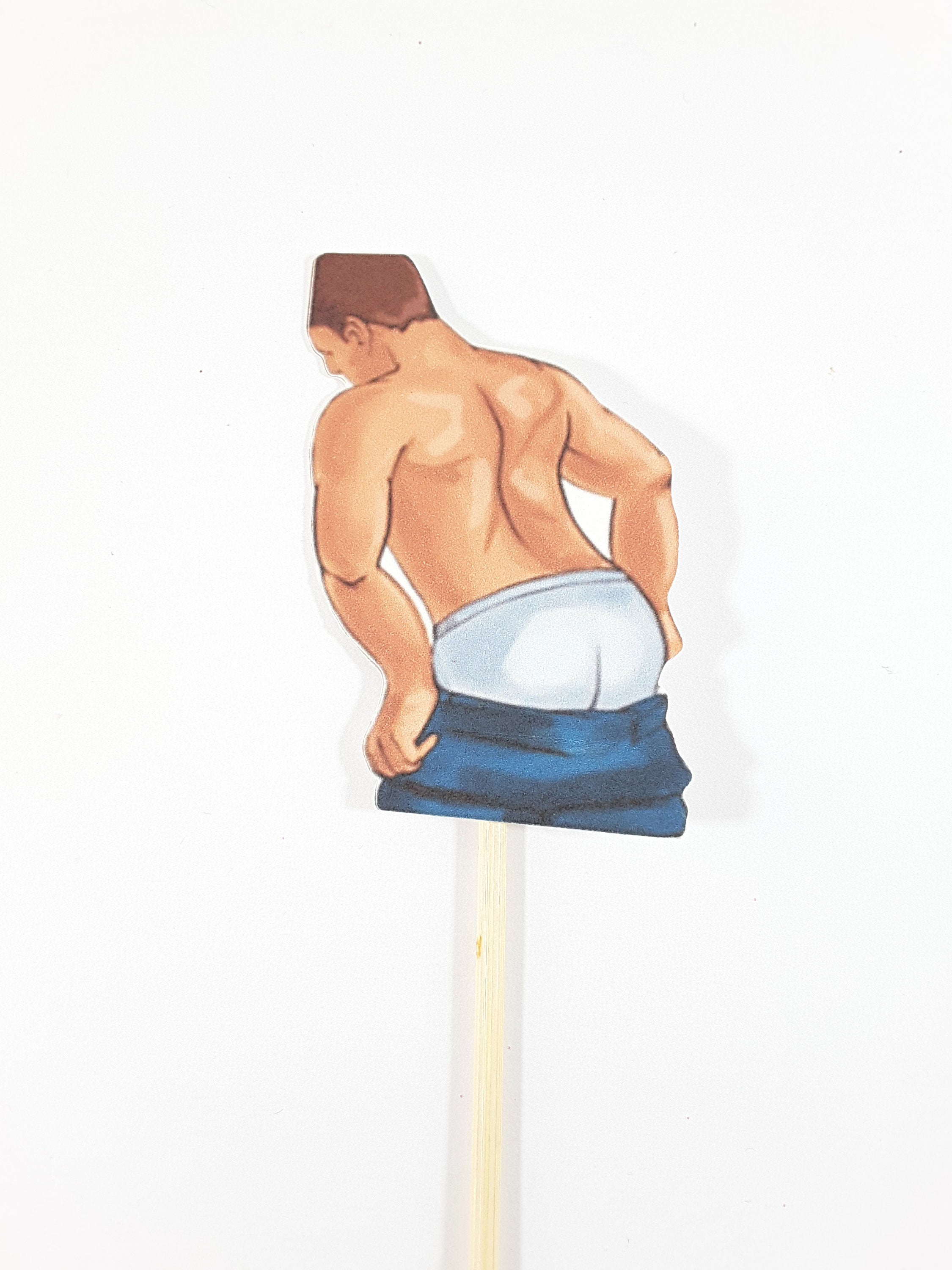 Personalized Male Stripper Cupcake Toppers