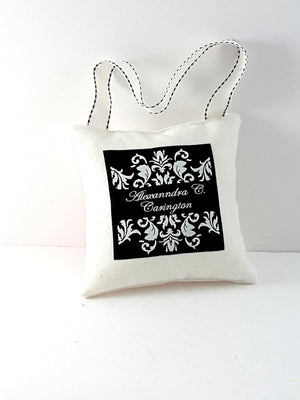 Funny 5 Inch Hanging White Denim Pillow with tongue, home decor - TheLastWordBish.com