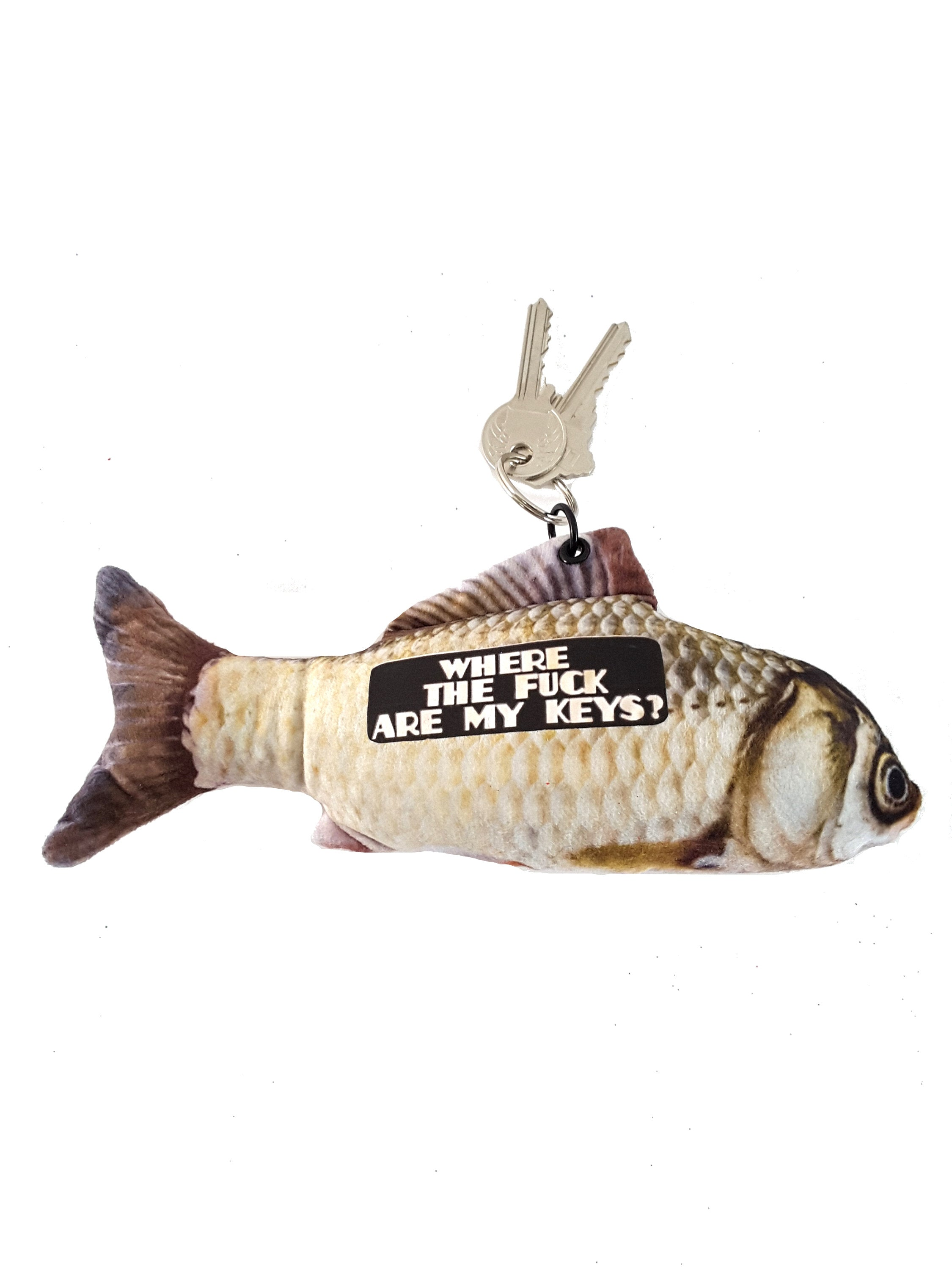 Funny Keychain, Large Stuffed Fish, Unique Gift, Christmas Stocking Stuffer, gift for friend, gift for coworker, gag gift, gift for mom - TheLastWordBish.com