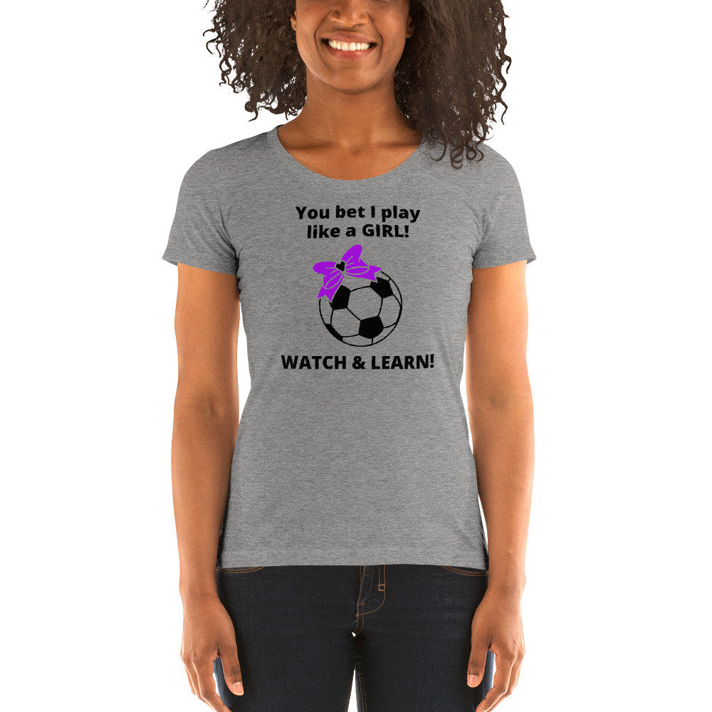 Fitted Ladies' short sleeve Soccer t-shirt - TheLastWordBish.com