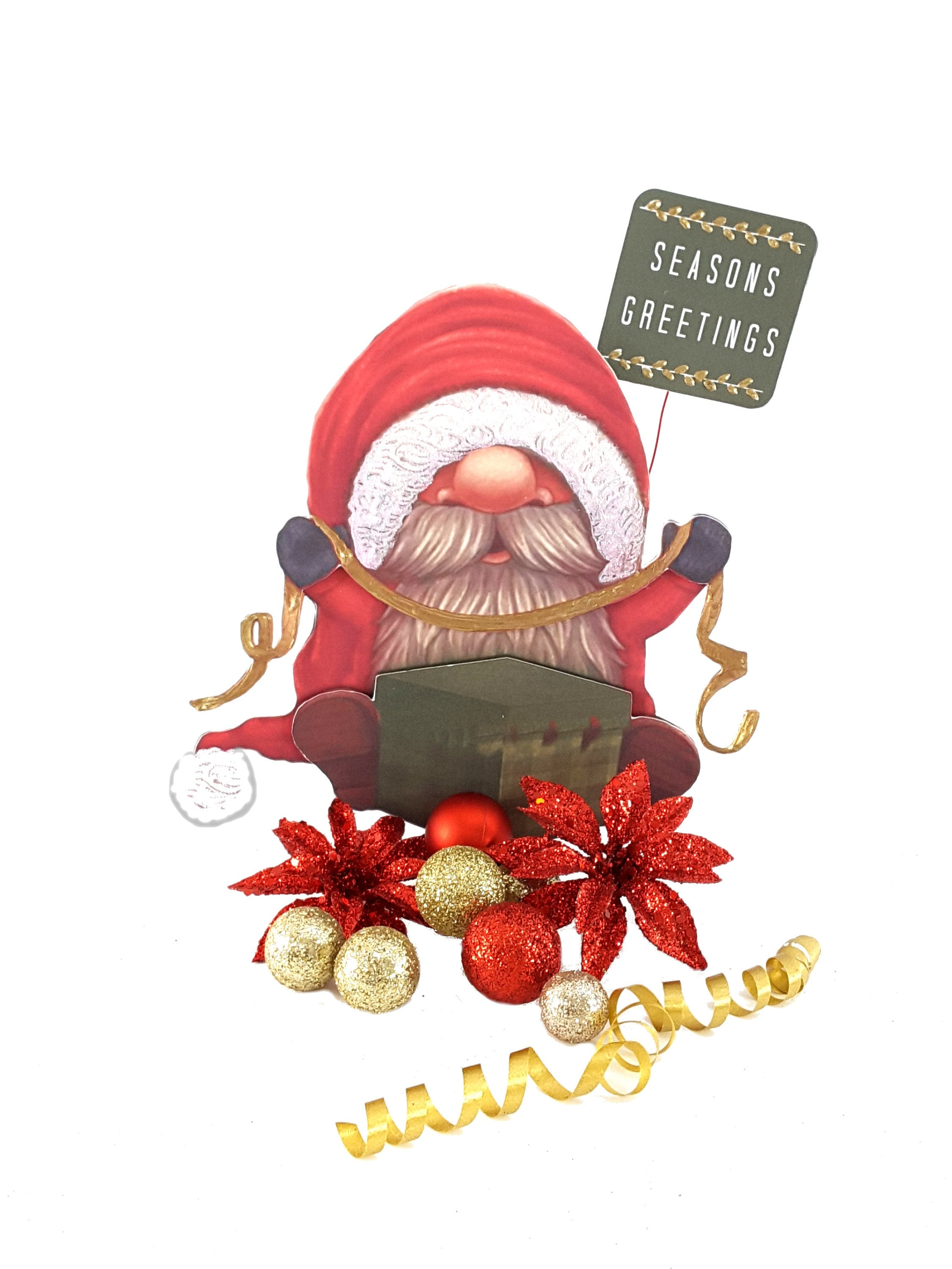 Christmas Gnome Decoration or Table Centerpiece, Holiday Decor - TheLastWordBish.com