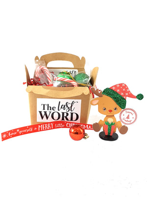 3D Stand Up Christmas Reindeer Personalized Greeting Card in a Box - TheLastWordBish.com