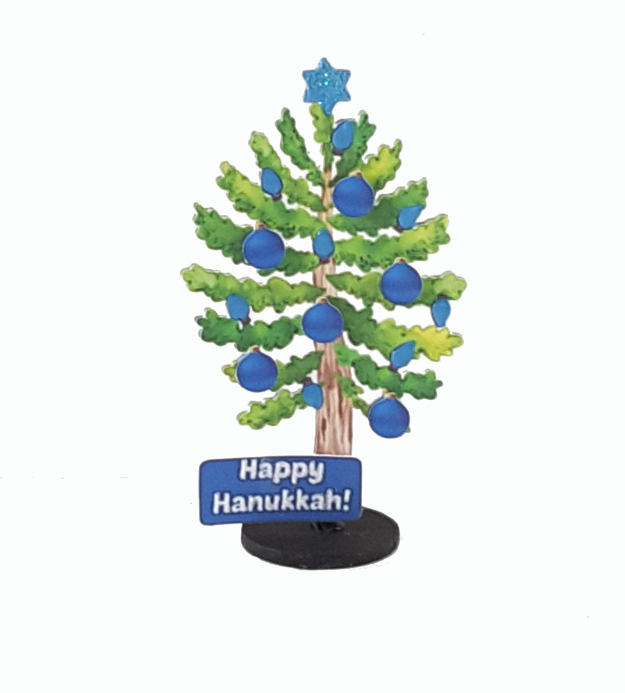 Hanukkah Card with Stand Up Tree, Hanukkah Gift - TheLastWordBish.com