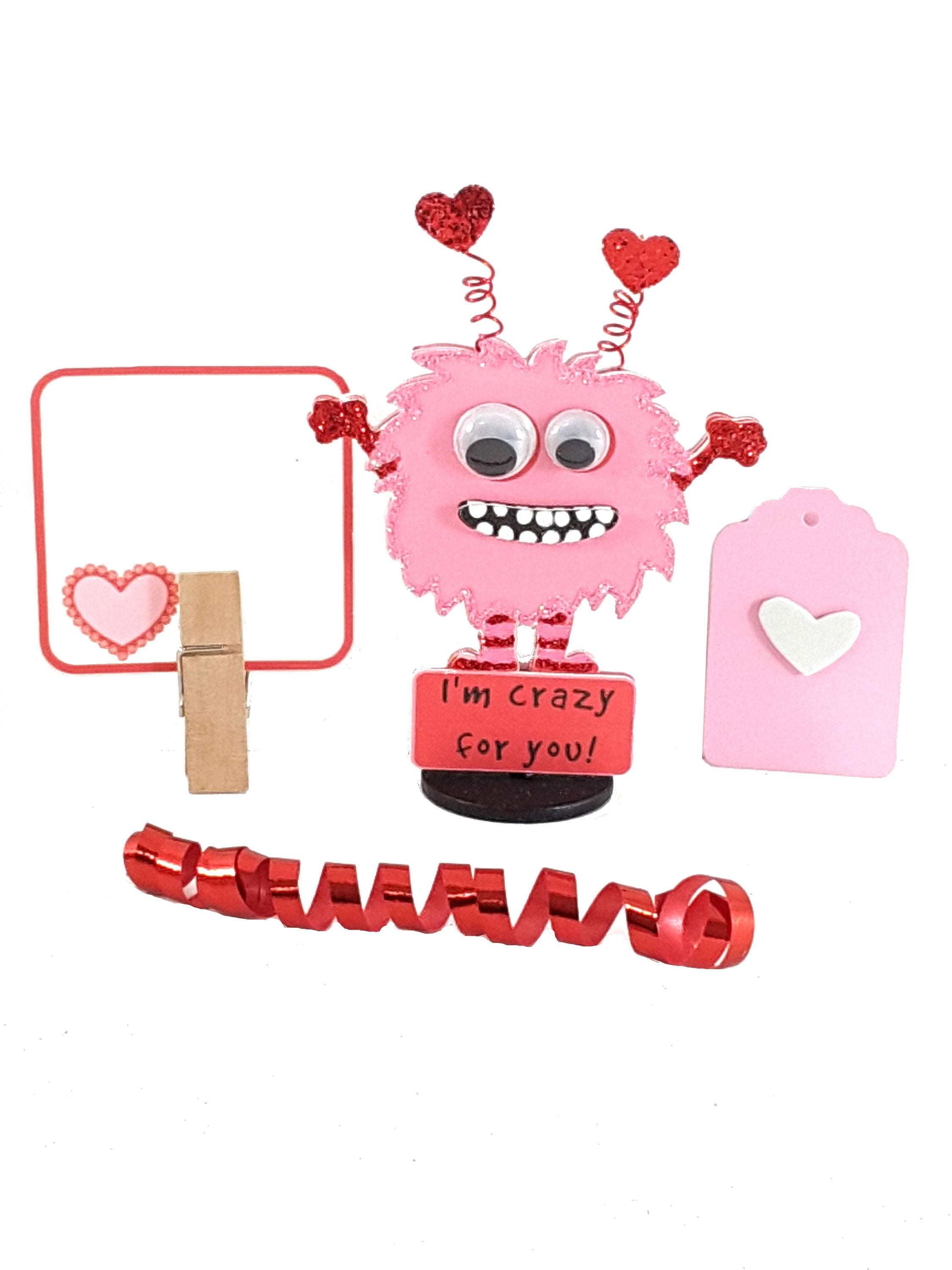 Personalized 3D Stand Up Greeting Card featuring Little Monster - TheLastWordBish.com