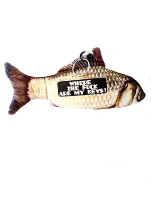 Funny Keychain, Large Stuffed Fish, Unique Gift - TheLastWordBish.com