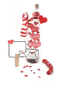 I Love You Message in a Bottle, Valentine's Day Card or Any Occasion - TheLastWordBish.com