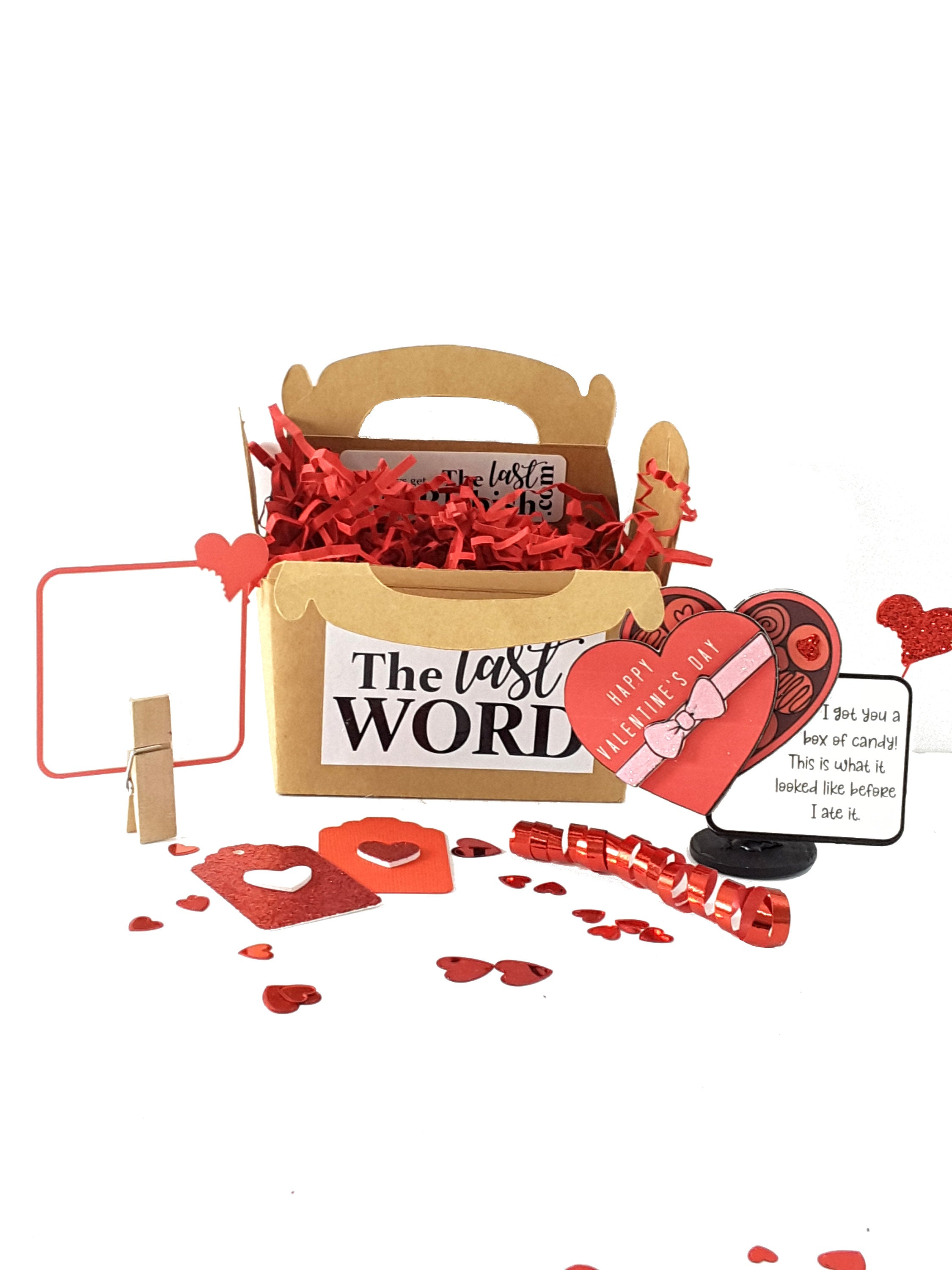 Funny Valentine's Day Gift, Unique Stand Up Box of Candy Valentine's Day Card - TheLastWordBish.com