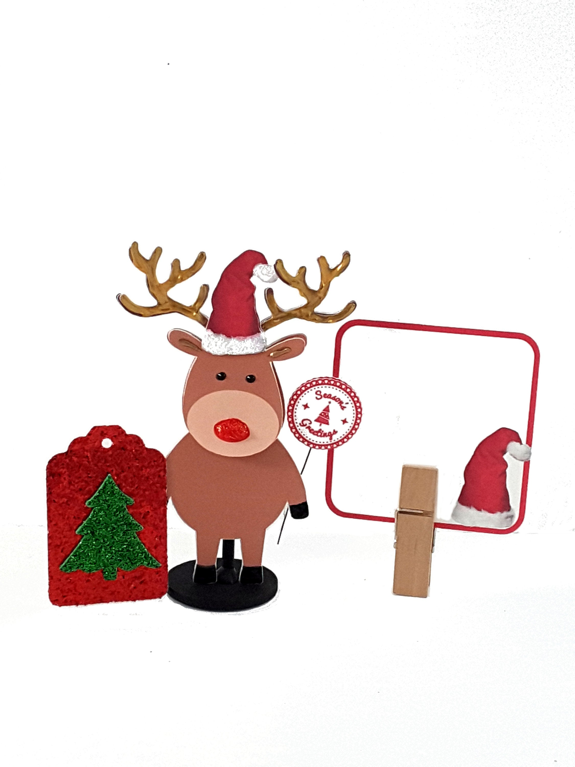 Christmas Greeting Card with Stand Up Rudolph the Red-Nosed Reindeer, Christmas Gift - TheLastWordBish.com