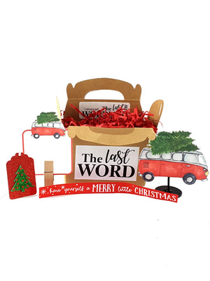Personalized Christmas Card with Retro Red Van, Christmas Gift - TheLastWordBish.com