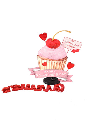 "Funny Valentine's Day Pop Up Greeting Card with Cupcake that says, ""My Significant Other"" - TheLastWordBish.com"