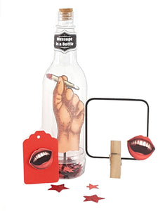 Personalized Message in a Bottle featuring Stand Up Vintage Hand Holding a Doobie - The Last Word Bish