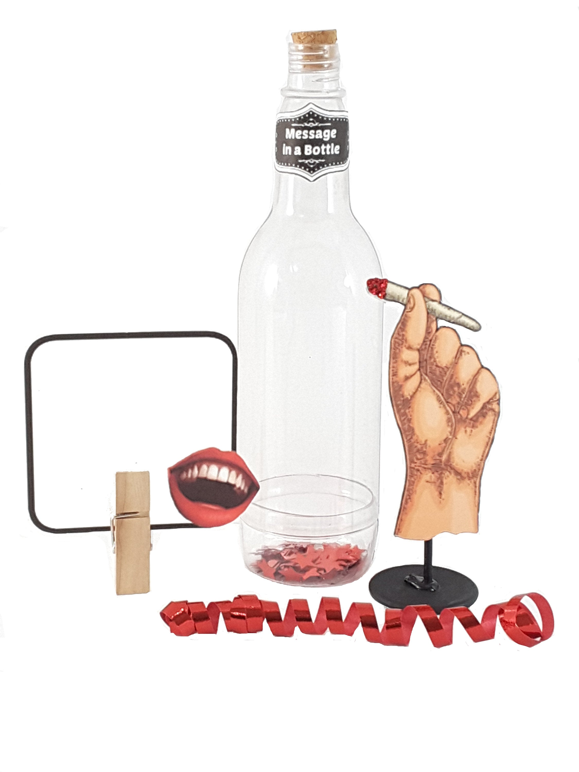 Personalized Message in a Bottle featuring Stand Up Vintage Hand Holding a Doobie - TheLastWordBish.com