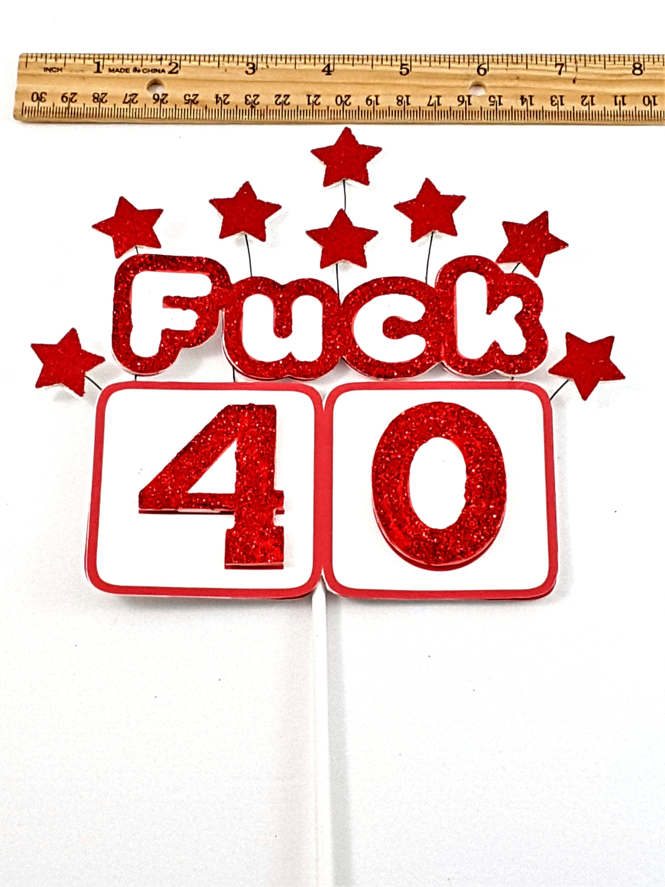 Funny Custom Adult Birthday Cake Topper for Any Age, Birthday Decoration - TheLastWordBish.com