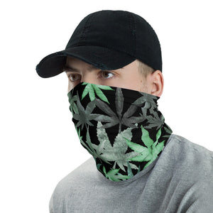 Face Mask, Cannabis Leaf Design, Marijuana Leaf Neck Gaiter - TheLastWordBish.com