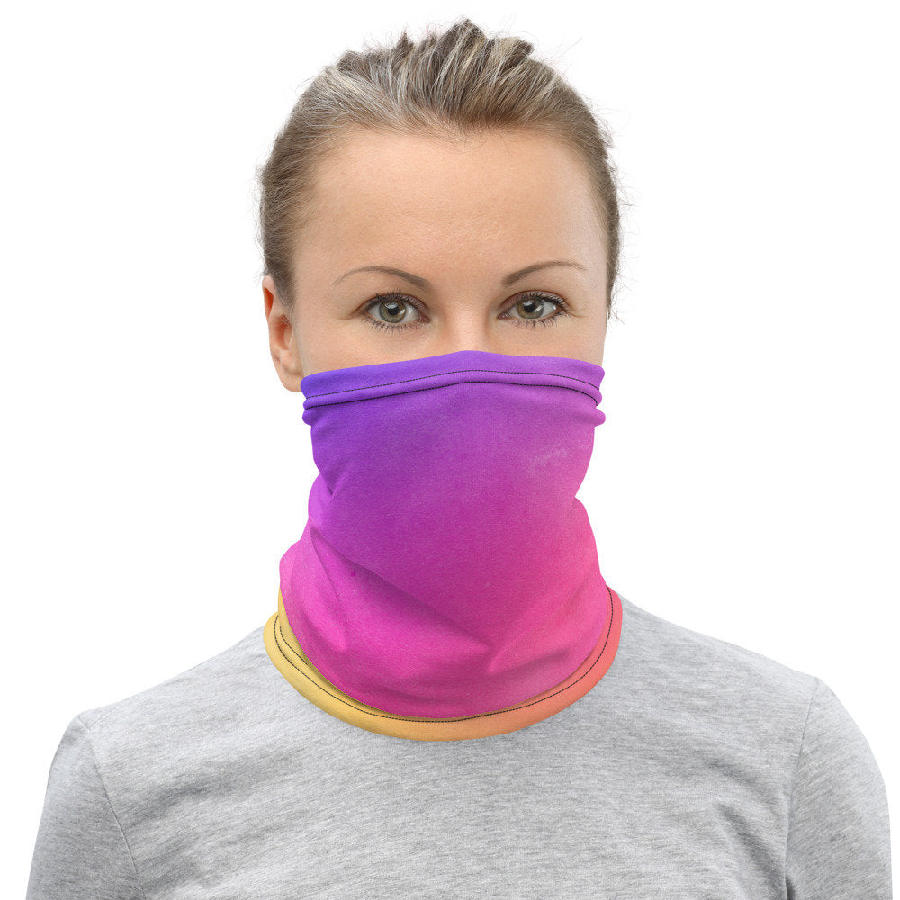 Rainbow Face Mask, Neck Gaiter, - TheLastWordBish.com