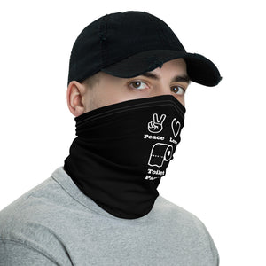 Funny Face Mask, Peace, Love and Toilet Paper, Neck Gaiter - TheLastWordBish.com