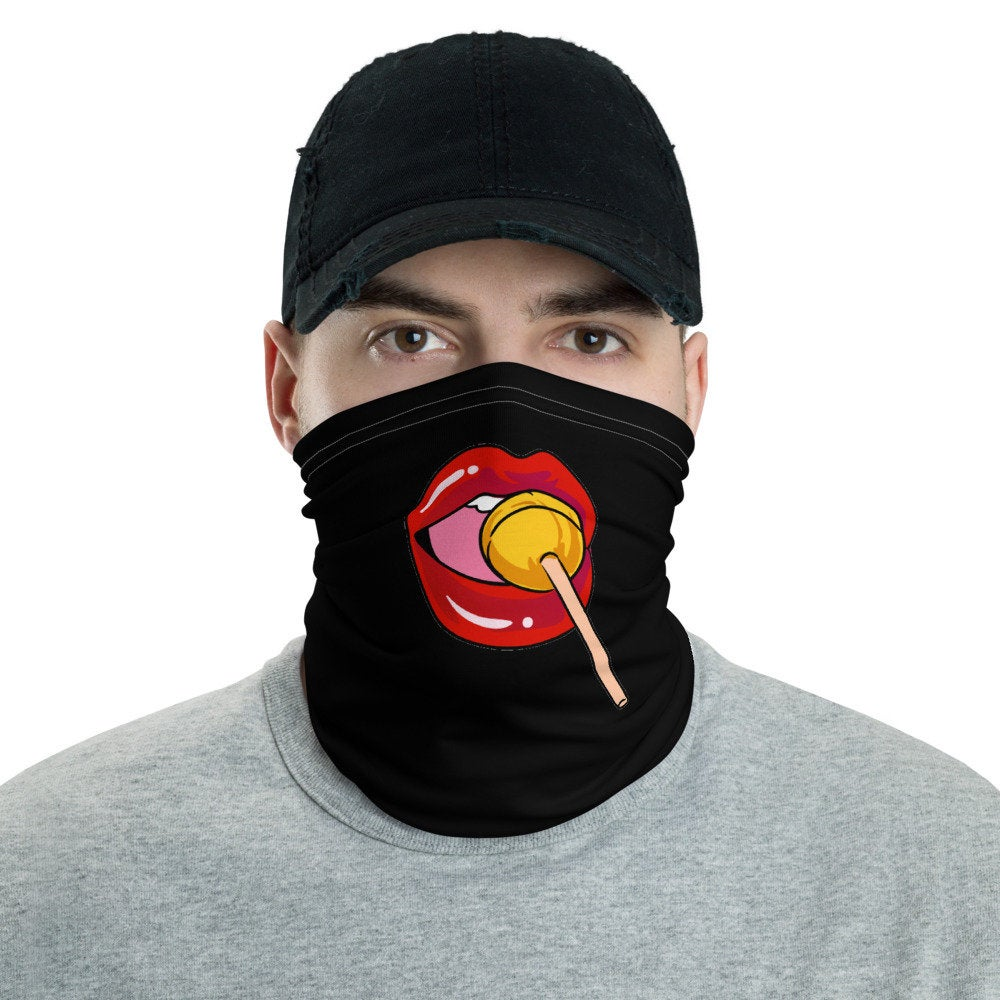 Face Mask, Lips and a Lollipop Neck Gaiter - TheLastWordBish.com
