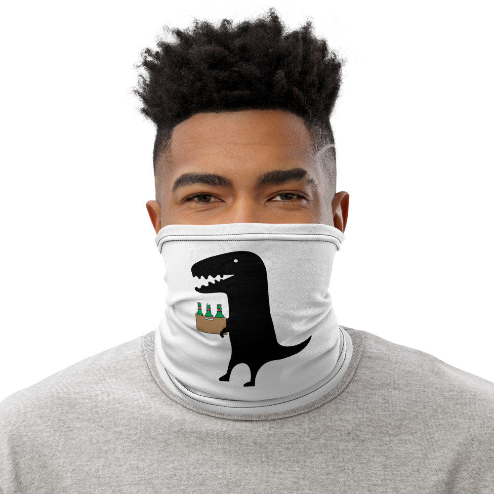 Funny Face Mask, Dinosaur and Beer Neck Gaiter - TheLastWordBish.com