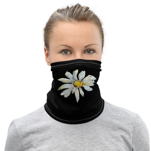 Women's Face Mask with  Daisy, Floral Neck Gaiter - TheLastWordBish.com
