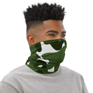 Camouflage Face Mask, Green Neck Gaiter for Men and Women - TheLastWordBish.com