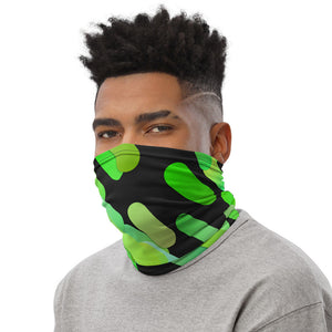 Green Face Mask, Gradient Green Design,  Neck Gaiter for Men and Women - TheLastWordBish.com