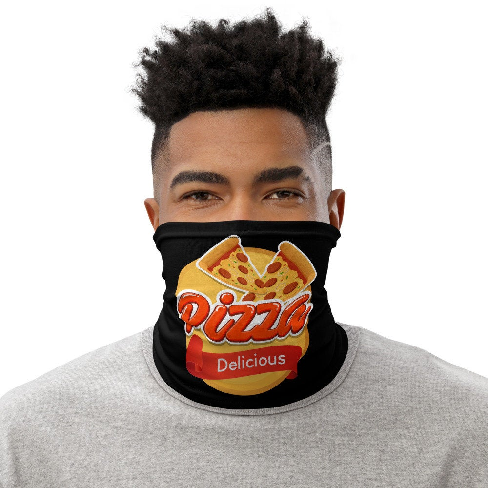 Pizza Lover Face Mask, Washable Pizza Delivery Neck Gaiter - TheLastWordBish.com