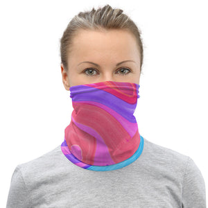 Women's Face Mask, Colorful Marble Neck Gaiter - TheLastWordBish.com