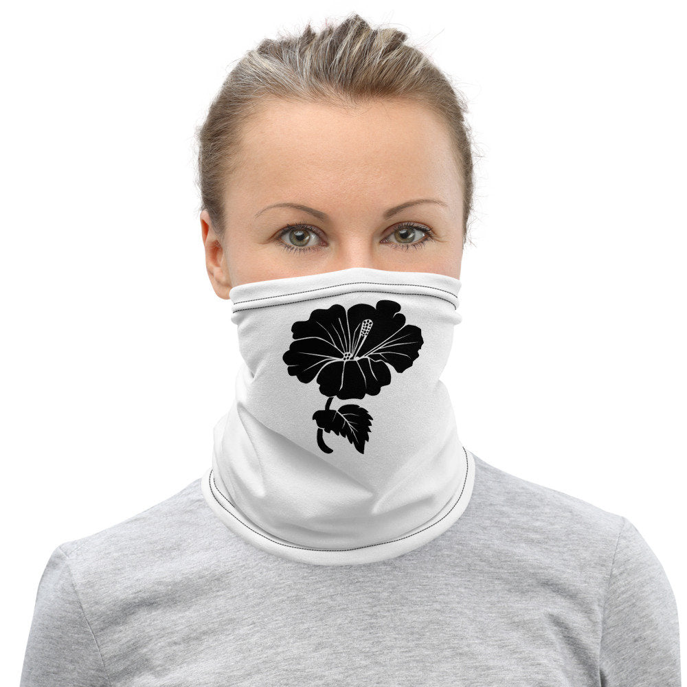 Hibiscus Face Mask for Women, Ladies Neck Gaiter - TheLastWordBish.com