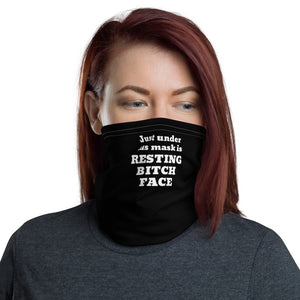 Funny Face Mask, Resting Bitch Face, Women's Neck Gaiter - TheLastWordBish.com