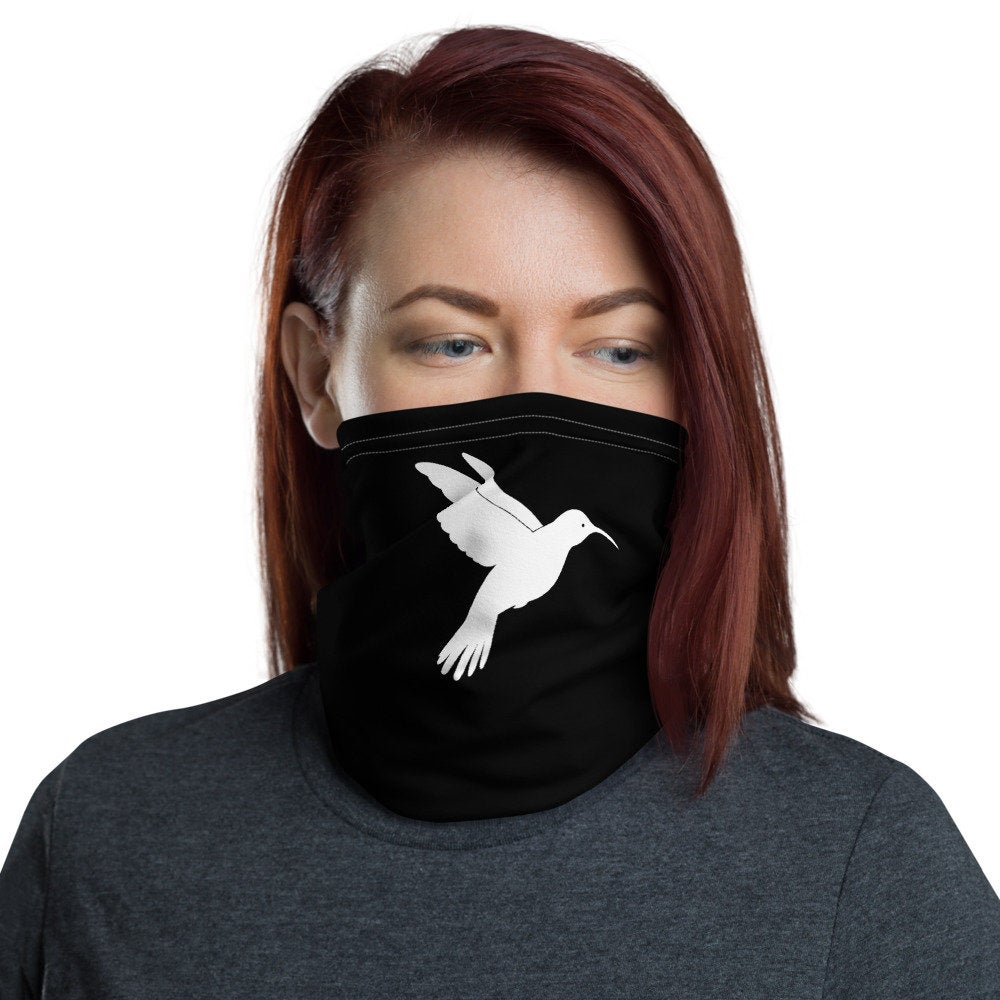 Hummingbird Face Mask, Washable Neck Gaiter - TheLastWordBish.com