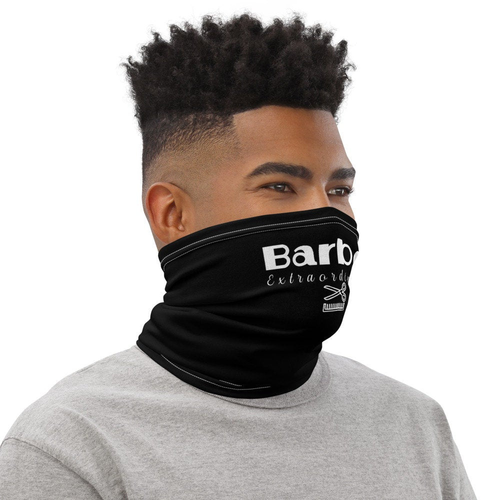 Barber Face Mask,  Barber Extraordinaire Black Neck Gaiter - TheLastWordBish.com