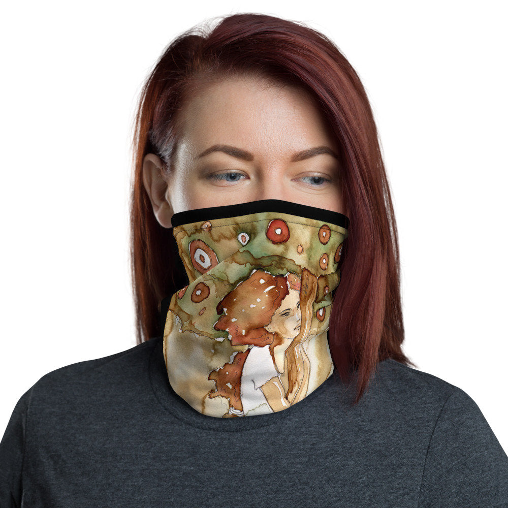 Watercolor Face Mask, Washable Neck Gaiter - TheLastWordBish.com