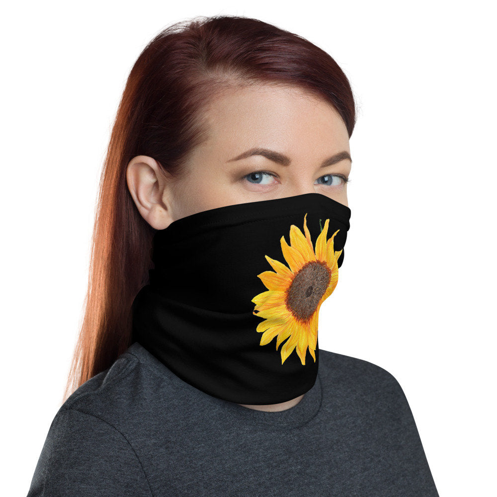 Women's Face Mask,  Sunflower Neck Gaiter - TheLastWordBish.com