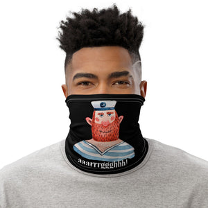 Funny Face Mask with Pirate, Aaarrrggghh, Washable Neck Gaiter - TheLastWordBish.com