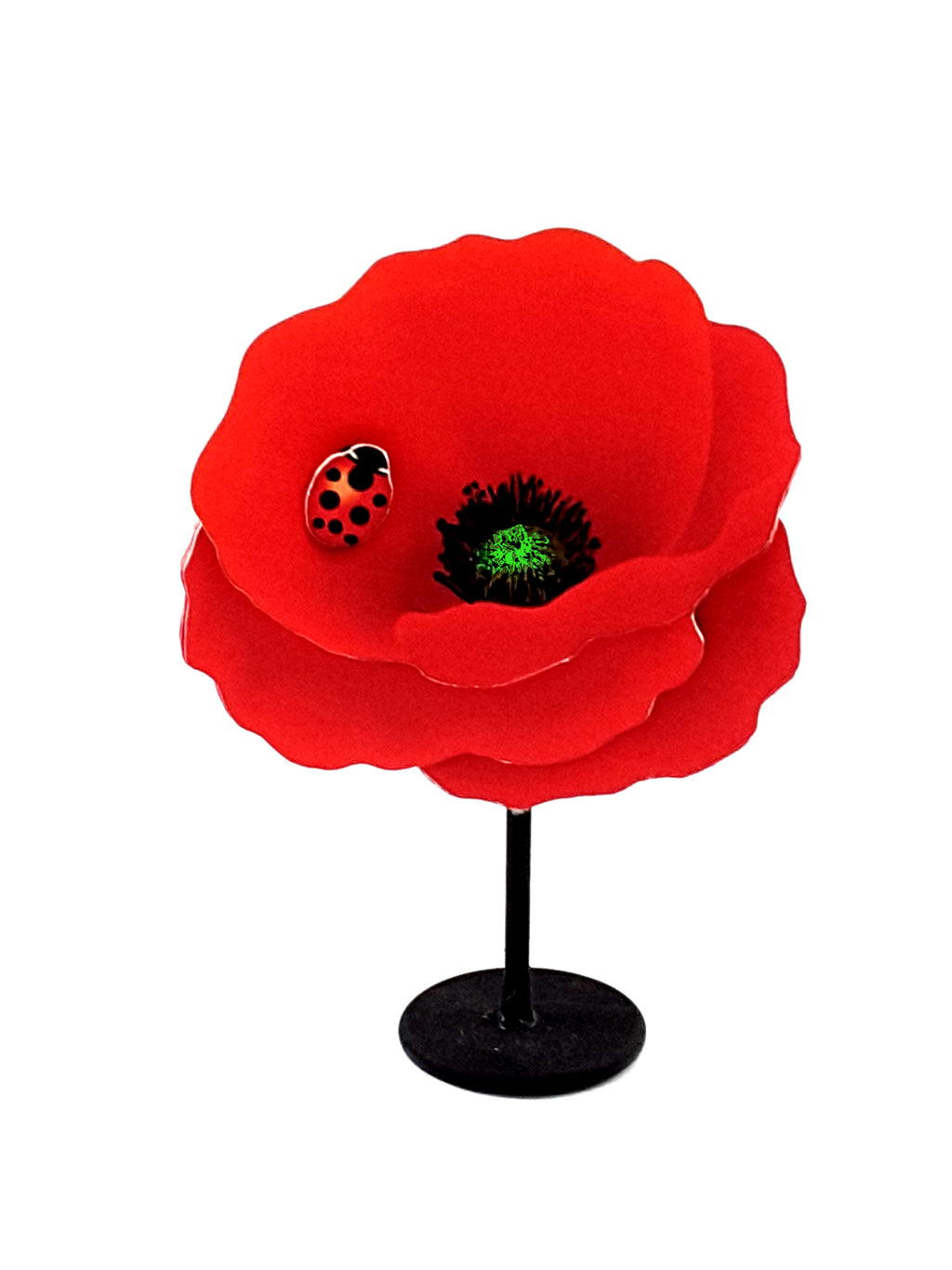 Personalized Red Poppy Stand-Up All-Occasion Greeting Card - TheLastWordBish.com