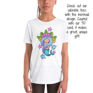 mermaid tee that matches 3D greeting card
