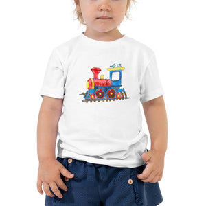 Toddler T-shirt with Toy Train - FREE SHIPPING